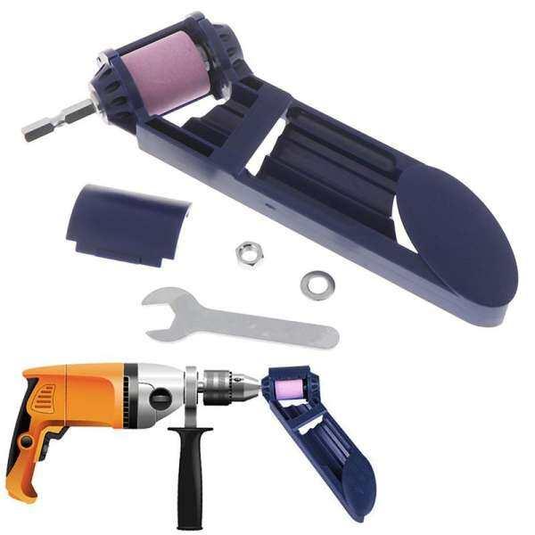 Refreshing 1Set Drill Bit Sharpener Corundum Grinding Wheel for Grinder Polishing Kit