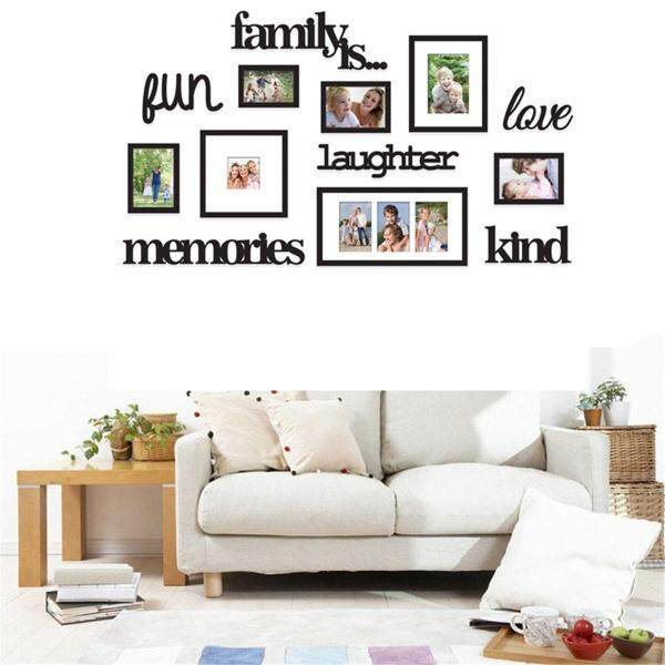 3D Family Tree Photo Picture Frame Acrylic Set Collage Wall Art Home Decorative 13 Piece Black Family Photo Frame Home Hanging Wall Decorative Collage Decor Set #113*67
