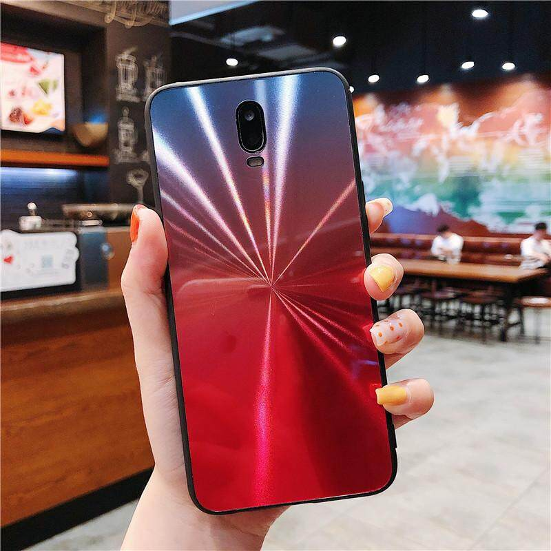 2019 Luxury Gradient Colorful CD Pattern 3D Mirror Phone Case For Oppo F7  Back Cover