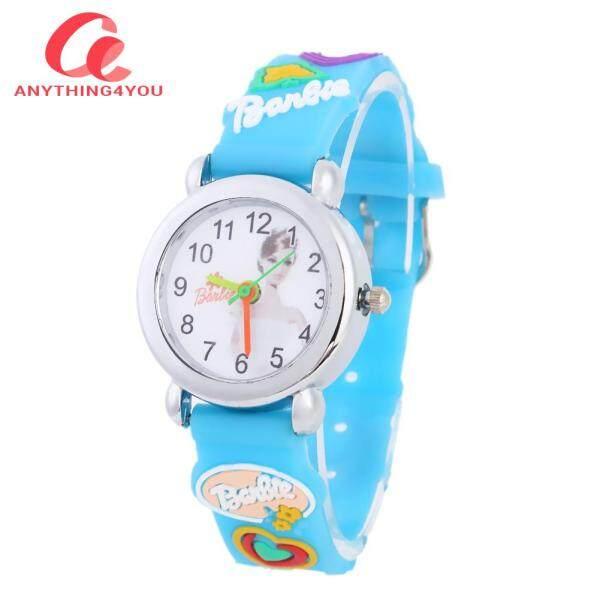 """""""Always Lower Price"""" 3D Silicone Strap Quartz Watch Kids Cartoon Doll Dial Analog Wristwatch Malaysia"""
