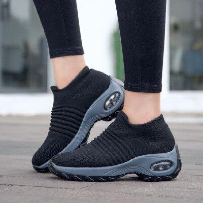 Giày Nữ 2020 Giày Chạy Bộ Giày Lưới Thoáng Khí Cho Nữ Giày Thể Thao Mix Màu Giày Đế Mềm Giày Lười Cho Nữ giá rẻ