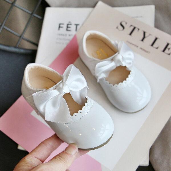 Giá bán Giày búp bê Kio cho bé gái xăng đan da thắt nơ bướm cho công chúa trẻ em mới biết đi