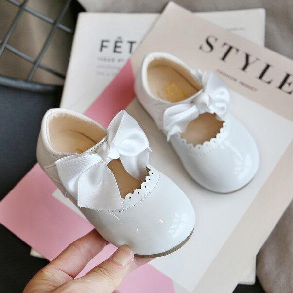 Giày búp bê Kio cho bé gái xăng đan da thắt nơ bướm cho công chúa trẻ em mới biết đi giá rẻ
