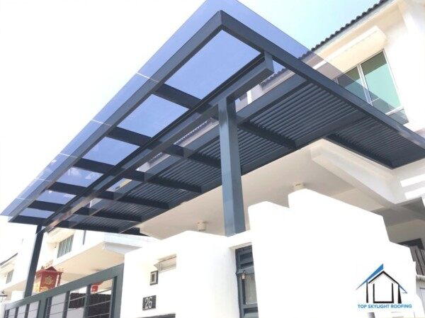 10.38mm THK Laminated Glass Roofing Complete With Pergola Mild Structure Frame
