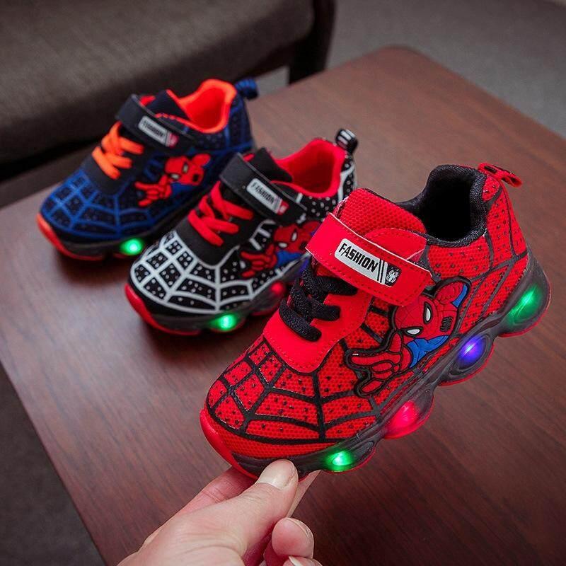 b3c45d3e7299 Kids Boys Girls Running Shoes LED Lighting Sneakers