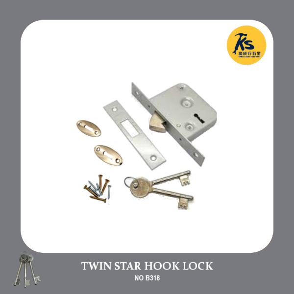 TWIN STAR HOOK LOCK (NO. B318)