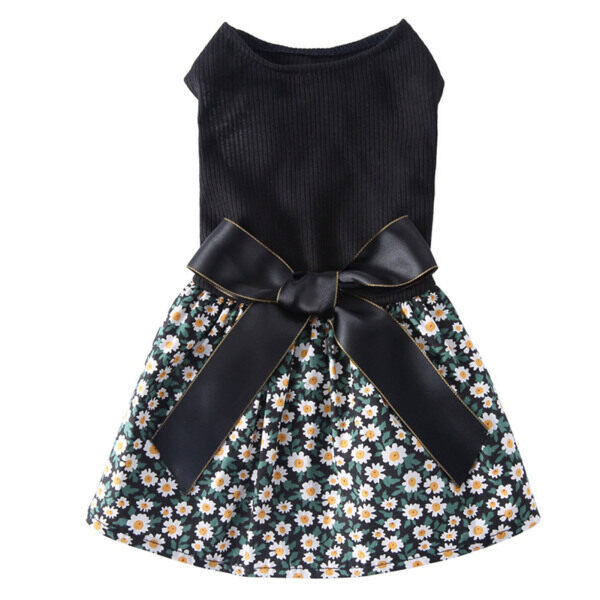 Huanhuang®Váy Chó Con, In Hoa Đẹp, Váy Cho Thú Cưng Hai Chân Đáng Yêu Bằng Cotton Polyester Cho Mùa Hè
