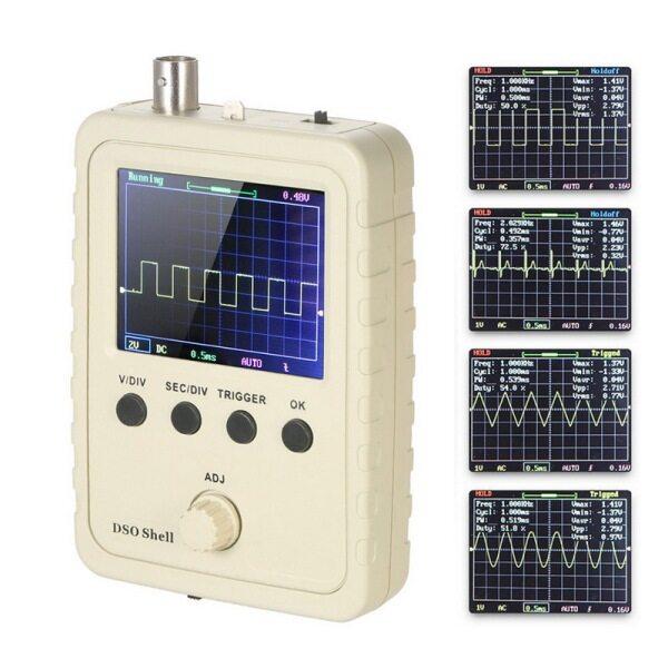 Máy hiện sóng kỹ thuật số bỏ túi cầm tay dso150 TFT với đầu dò kẹp vỏ 1msa/S 0-200KHz