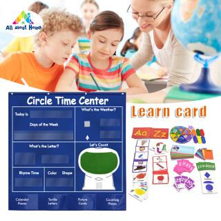 Thẻ Trung Tâm Học Tập ABH Lịch Biểu Đồ Thẻ Từ Thư Thời Tiết, Thẻ Toán Học Cho Trẻ Em Túi Treo Giáo Dục thumbnail