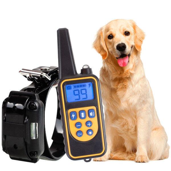 Vòng cổ huấn luyện chó điện 800m, Vòng Cổ điều khiển từ xa cho thú cưng, có thể sạc lại bằng màn hình LCD, dùng cho mọi kích cỡ, rung động, chống sốc