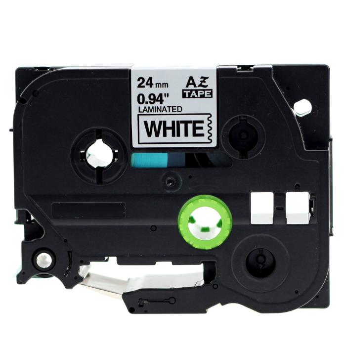 Sale 1 X Aze 251 Label Tape Compatible For Brother Tze 251 Tz 251 Tz251 Black On White 1 1Inch 24Mm X 8M Intl Oem Wholesaler