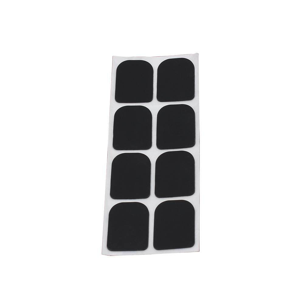 0.3mm 8pcs Black Rubber Soprano Saxophone Sax Clarinet Mouthpiece Patches Pads Cushions (Black)