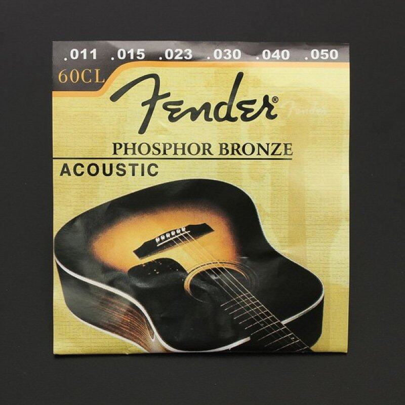 1 Set 60CL (.011-.050) Phosphor Bronze Wound Steel Acoustic Guitar Strings light New Malaysia