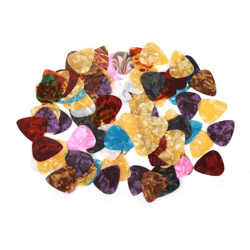 100 Pcs Custom Acoustic Electric Guitar Celluloid Picks Plectrums Mix Thickness Malaysia
