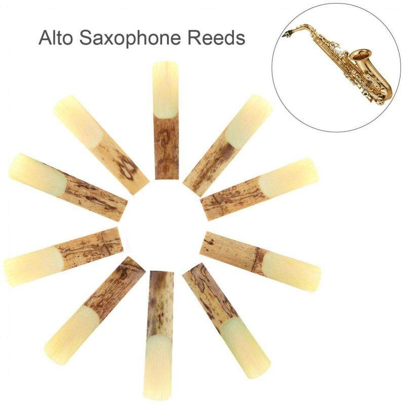 10pcs Alto bE 2-1/2 Saxophone Reeds Bamboo Strength 2.5 for Saxophone Parts Malaysia