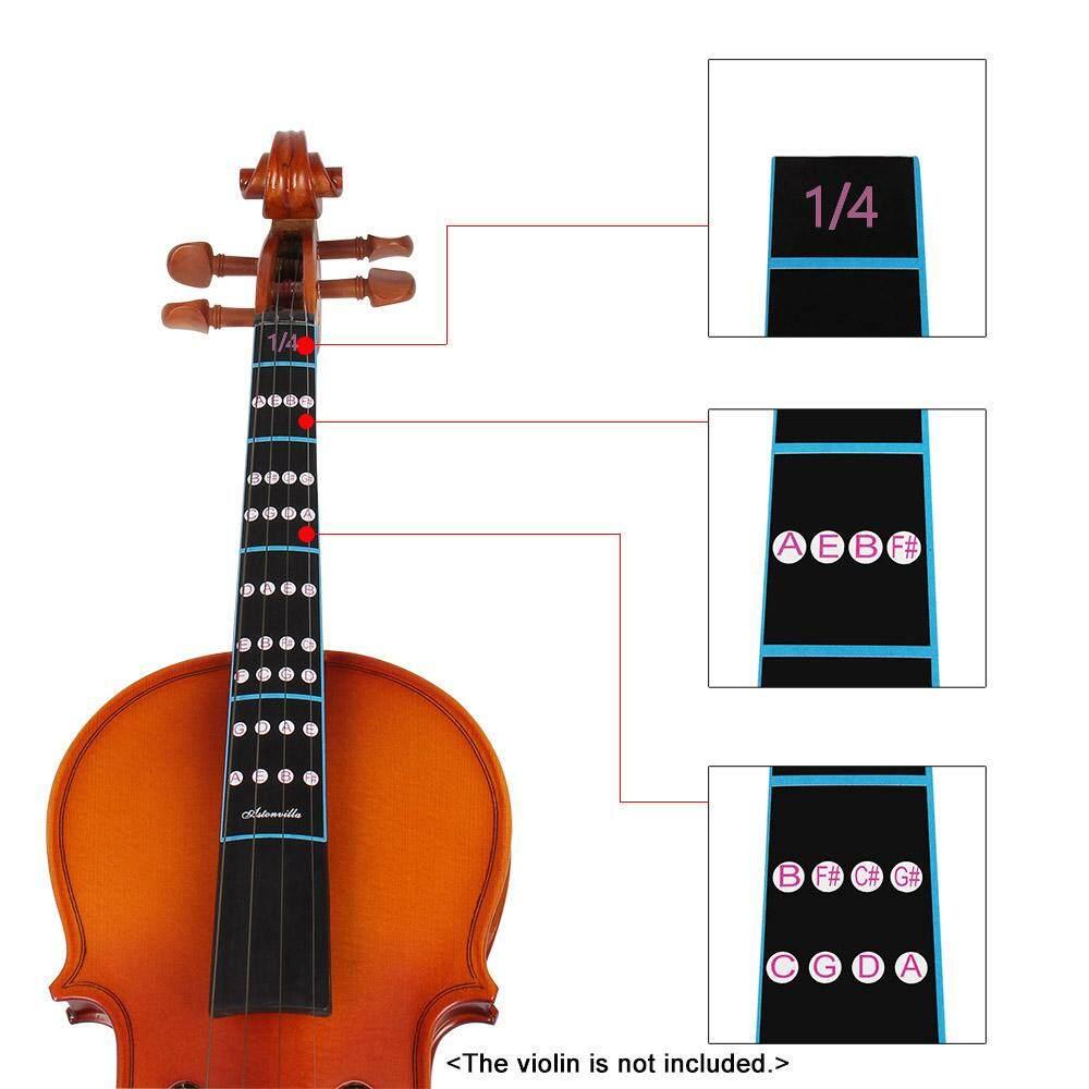 1/4 Violin Fiddle Finger Guide Fingerboard Sticker Label Intonation Chart Fretboard Marker for Practice