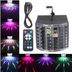 18W LED RGB Sound Actived DMX512 Strobe Effect Stage Lighting DJ Disco Bar Party US Plug Black – intl