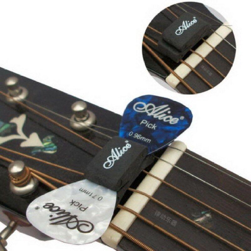 1PCS Black Guitar HeadStock Pick Holder Rubber- Malaysia