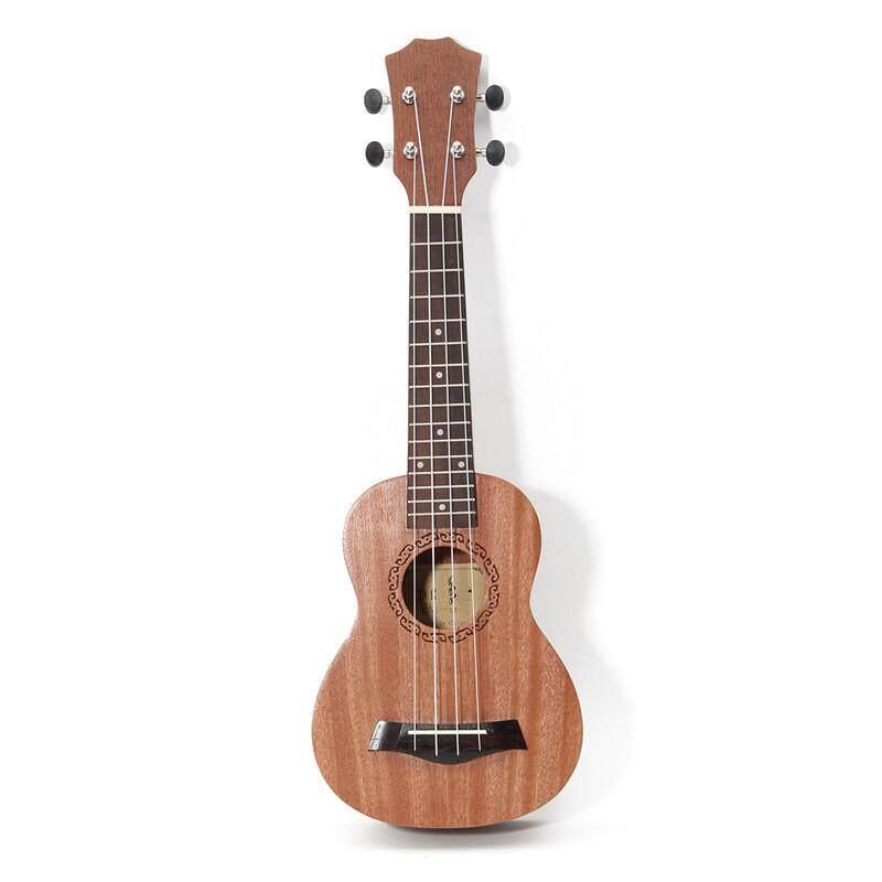 Chun 21 นิ้ว 15 Frets Mahogany อูคูเลเล่เสียงโซปราโนกีตาร์ Uke Sapele Rosewood 4 Strings กีต้าร์แนวฮาวายโอคาริน่าสำหรับผู้เริ่มต้น - Intl.