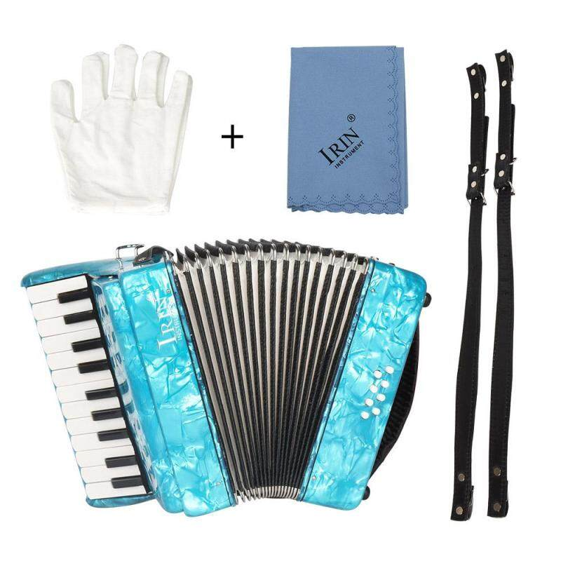 22-Key 8 Bass Piano Accordion with Straps Gloves Cleaning Cloth Educational Music Instrument for Students Beginners Childern Blue ^ Malaysia