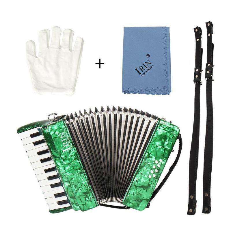 22-Key 8 Bass Piano Accordion with Straps Gloves Cleaning Cloth Educational Music Instrument for Students Beginners Childern Green ^ Malaysia