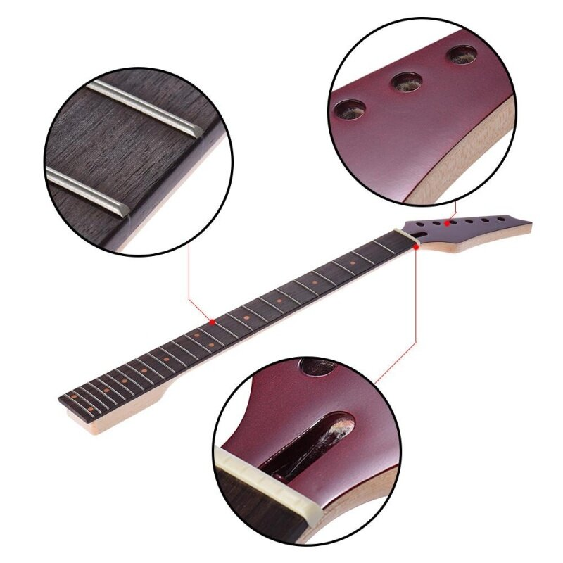【Hot Sale】24 Frets New Replacement Maple Neck Rosewood Fretboard Fingerboard for Epiphone Electric Guitar Malaysia