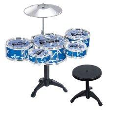 Ecotoy 27 Jazz Drums Children´s Kid´s Drum Set Musical Instrument (blue) By Florasun.
