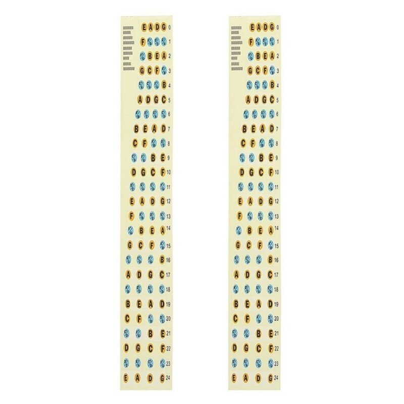 [Cheerfulhigh]2Pcs Fretboard Fingerboard Note Label Fret Stickers for Guitar Bass Malaysia