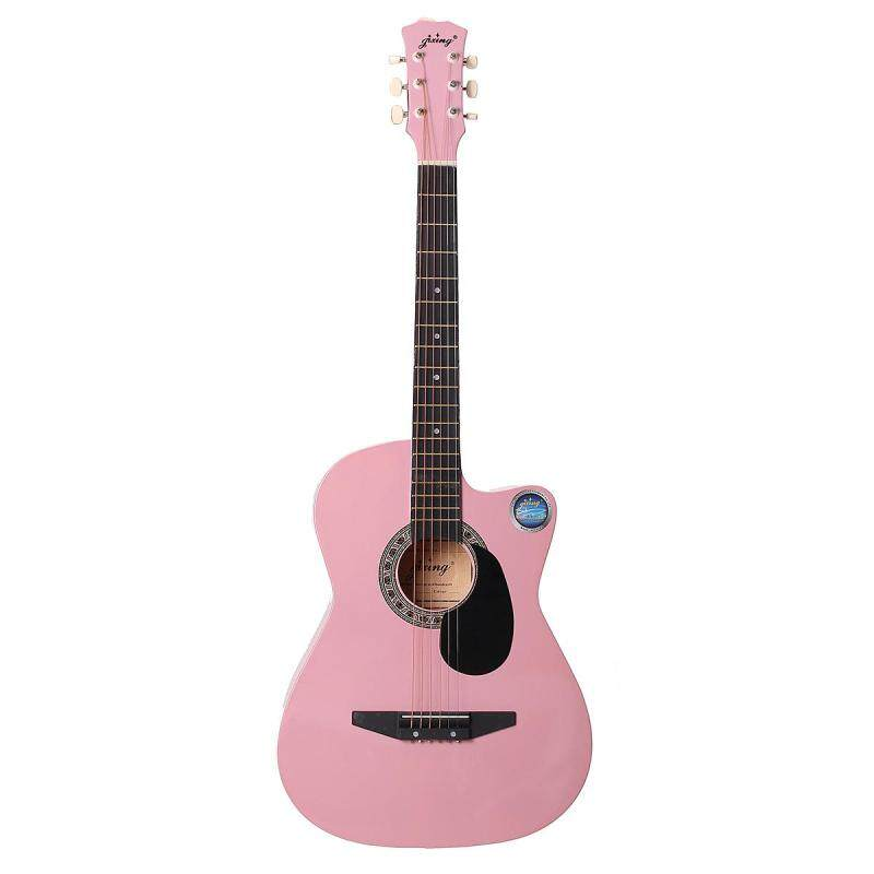38 Inch Wooden Folk Acoustic Guitarra Electric Bass Fret Guitar Ukulele with Case Bag for Musical Instrument Lover Malaysia