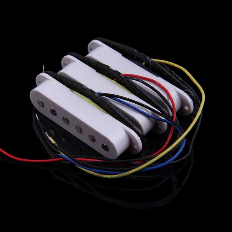 3in1 48 50 52MM White Single Coil Electric Guitar Pickups for Start Fender Malaysia