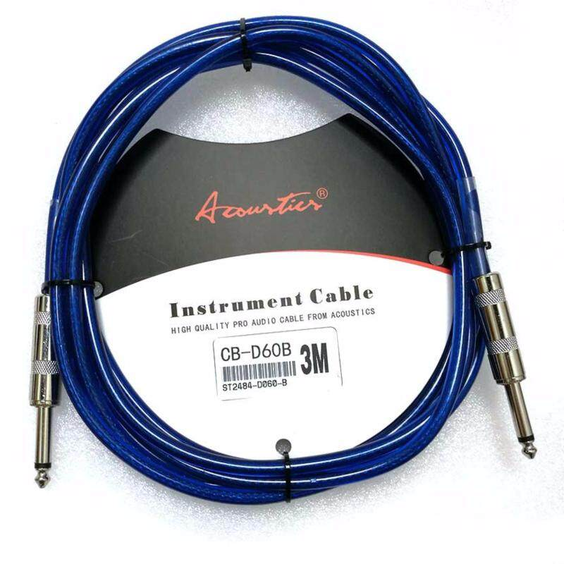 3m 10 ft Jack to Jack Audio Cable for Guitar Mixer Amplifier Guitar Cable Acoustic 3m Blue Colour Malaysia