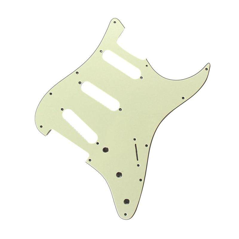 3Ply SSS 11 Holes Strat Electric Guitar Pickguard FD  (All) (Green) Malaysia