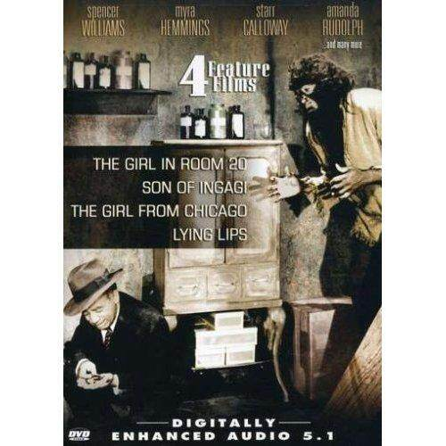 4 Fitur Film: gadis Dalam Kamar 20/Putra Ingagi/Gadis dari Chicago/Berbaring Bibir (Layar Perak seri) [Wilayah 1]-Internasional