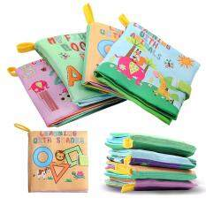 4 Patterns Baby Toy Soft Cloth Books Rustle Sound Infant Educational Stroller Rattle Toy Newborn Crib Bed Baby Toys 4 Pcs By Evertoner.