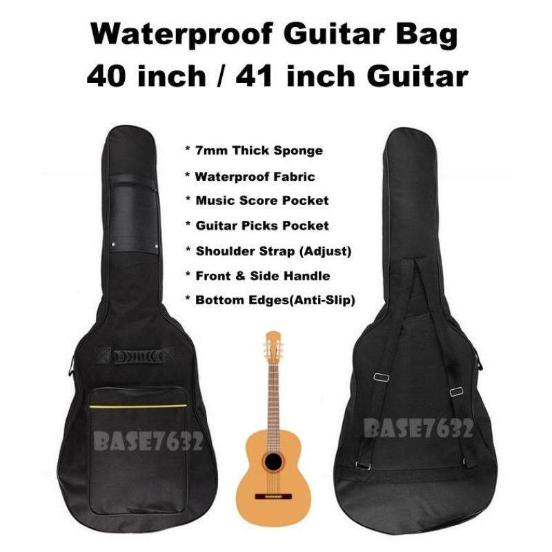 40/41 inch  40 41 Waterproof  7mm Sponge Guitar Bag Backpack Pockets 2221.1 Malaysia