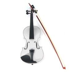 4/4 Full Size Basswood Natural Acoustic Violin Fiddle with Case Rosin Bow – intl