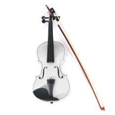 Rp 522.000 4/4 Ukuran Penuh Basswood Akustik Alami Biola Fiddle dengan Case Rosin ...