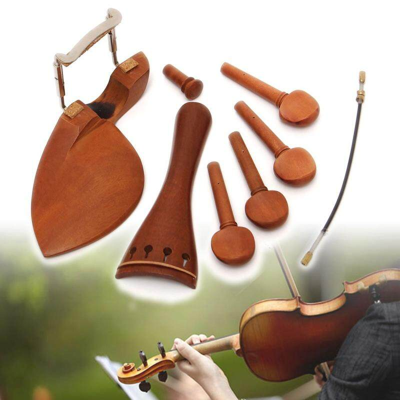 4/4 Full Size Tailpiece/Chinrest/Pegs/Endpin Set Wooden Violin Accessories Part Malaysia