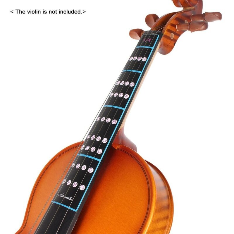 4/4 Violin Fiddle Finger Guide Fingerboard Sticker Label Intonation Chart Fretboard Marker for Practice Beginners Outdoorfree Malaysia