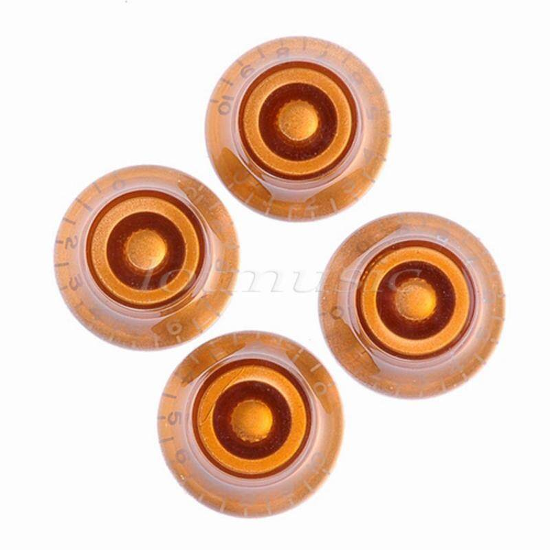 4pcs TOP HAT SPEED KNOBS FOR GIBSON ETC AMBER GUITAR KNOBS replacement Malaysia