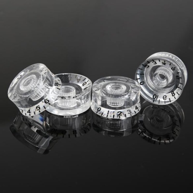 4Pcs Transparent Acrylic Speed Knob Volume Tone Control Electric Guitar Malaysia