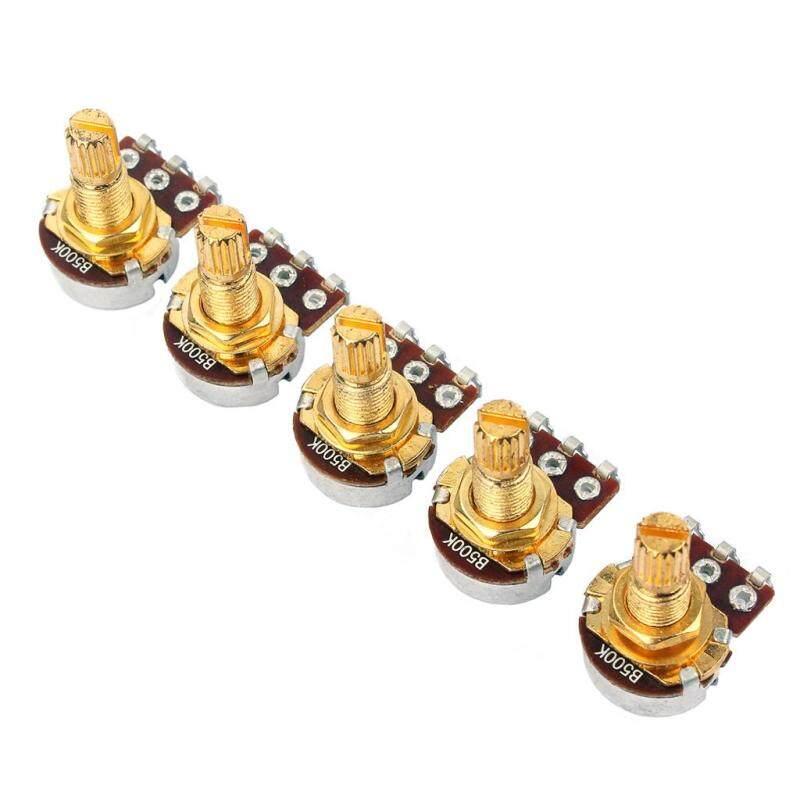 5Pcs B500k Ohm Audio Mini Pots Guitar Potentiometer For Electric Guitar Parts Malaysia
