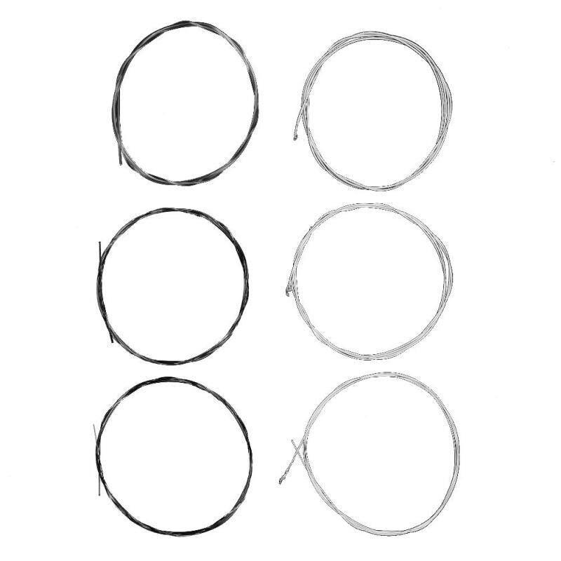 [Cheerfulhigh]6pcs Nylon Classical Guitar Strings Nano Core Silver Plated Copper Wire(Silver)-CW850 Malaysia