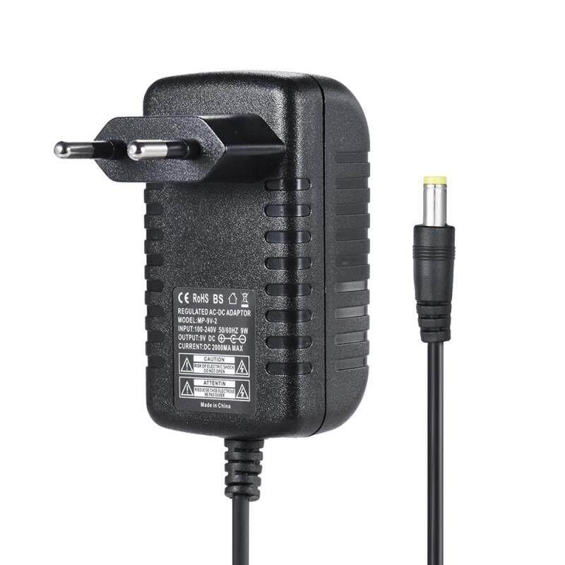 9V 2A Power Supply Adapter Converter for Guitar Bass Effect 100~240V Input EU Plug Malaysia