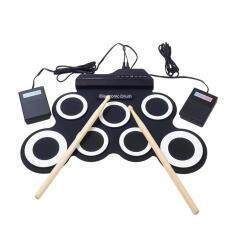 Hastra Portable Electronic Roll Up Drum Pad Instrument Gift Kit Silicon Foldable With Stick By Hastra.