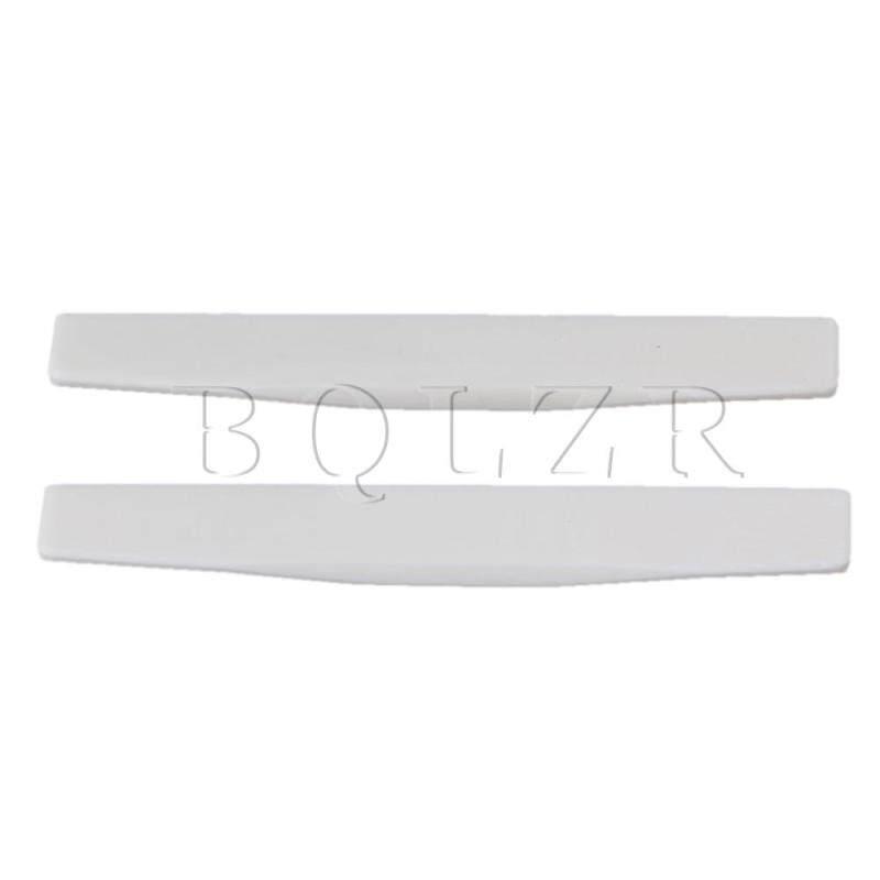 Acoustic Guitar Bone Bridge Saddle Set of 2 White Malaysia