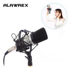 Alawrex Ax-700 Condenser Sound Recording Microphone Mic W/ Shock Mount & Cable For Radio Braodcasting Singing Ktv Karaoke Silver By Cessna.