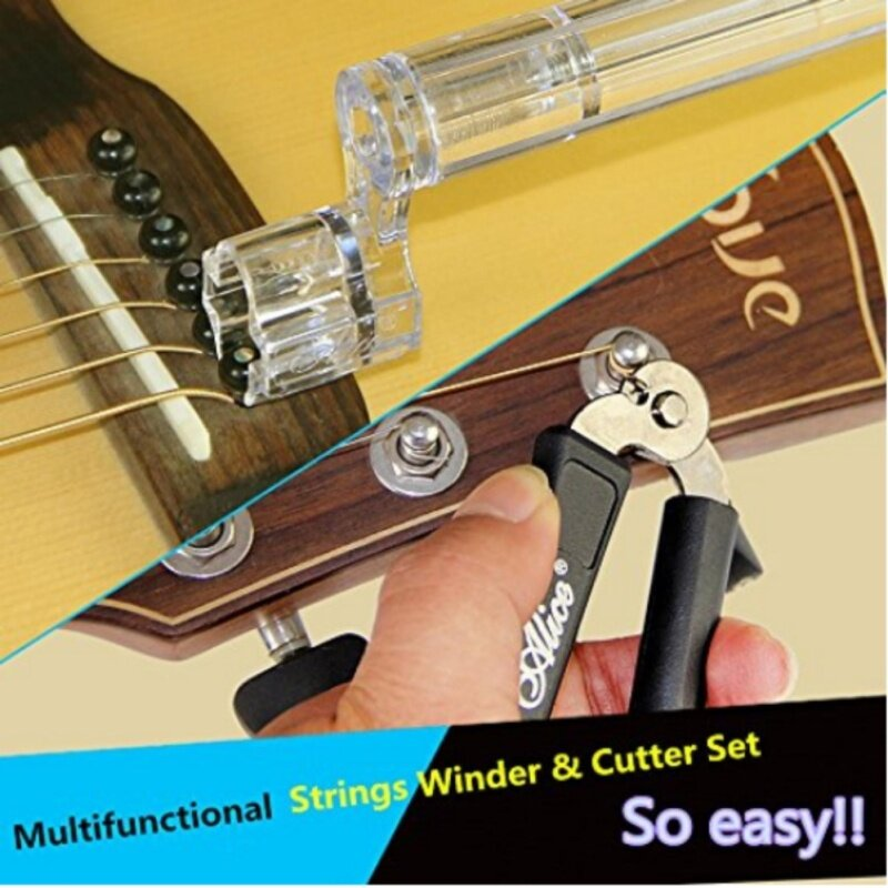 Alice A1009A Multifunctional Strings Winder & Cutter Set for Bass Guitar Ukulele Violin Malaysia