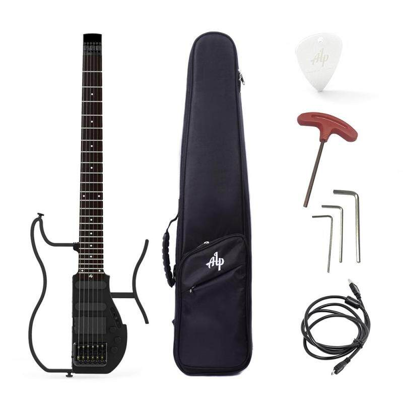 ALP AD-80 Professional Foldable Headless Travel Electric Guitar Built-in Headphone Amplifier with Gig Bag Malaysia