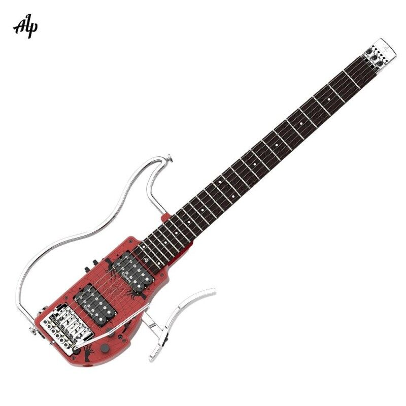 ALP ADS-361HCL Professional Foldable Headless Travel Electric Guitar Double Humbucker Built-in Guitar Effect Ebony Fingerboard with Rechargeable Batteries Gig Bag Malaysia
